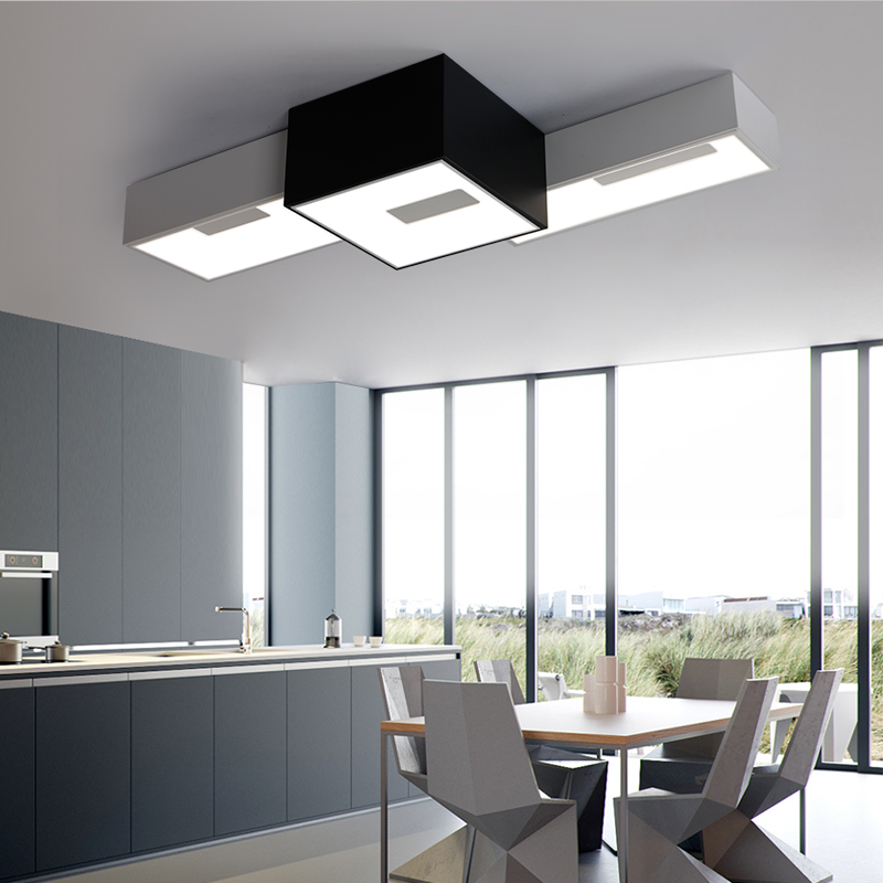 ФОТО modern ceiling box lights flush mount light fixture deckenleuchten bedroom acrylic lamp lamparas de techo lamps plafoniere