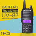 Walkie talkie BaoFeng УФ-82 Dual Band 136-174/400-520 МГц FM Ветчиной двухстороннее Радио Трансивер baofeng 82 walkie talkie