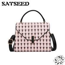 Европа Мода печати Цвет седельная сумка одного плеча косой сумка 2017 Весна и новые летние Стиль