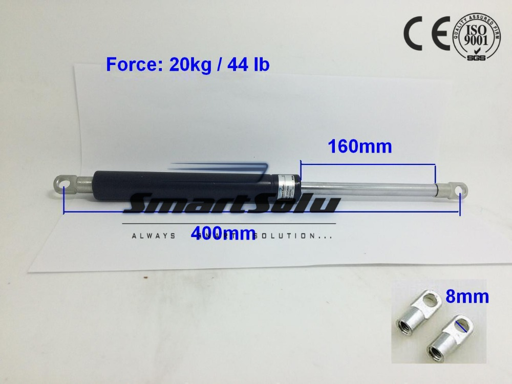 Free Shipping 160mm Stroke 44 lb / 20Kg Force Gas Spring Strut Shock Lift Prop for Automotive free shipping 44lb 20kg force 3 5 stroke hood lift strut prop rod gas spring 11 long