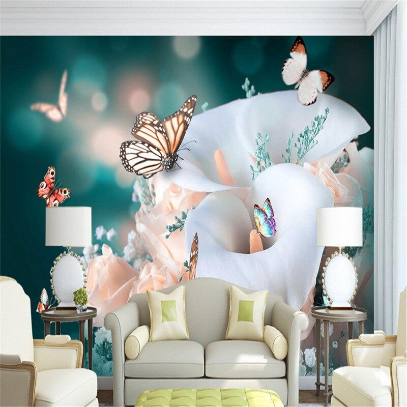 €20.55 46% de réduction Papier peint papillon papier peint rose et gris  salon mur idées 3d bureau papier peint enfants chambre décor étude-in  Papiers ...
