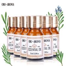 лучшая цена Famous brand oroaroma Lemon Chamomile Patchouli Oregano Castor Camellia Essential Oils Pack For Aromatherapy Spa Bath 10ml*6