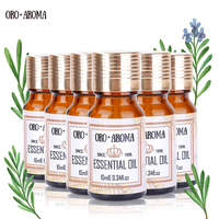 Famous brand oroaroma Lemon Chamomile Patchouli Oregano Castor Camellia Essential Oils Pack For Aromatherapy Spa Bath 10ml*6