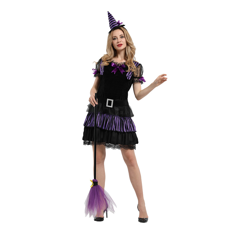 HUIHONSHE New <font><b>Halloween</b></font> <font><b>Sexy</b></font> Adult Women <font><b>Vampire</b></font> <font><b>Costumes</b></font> <font><b>Vampire</b></font> Party Short Dress Witch Female <font><b>Costumes</b></font> Uniforms image