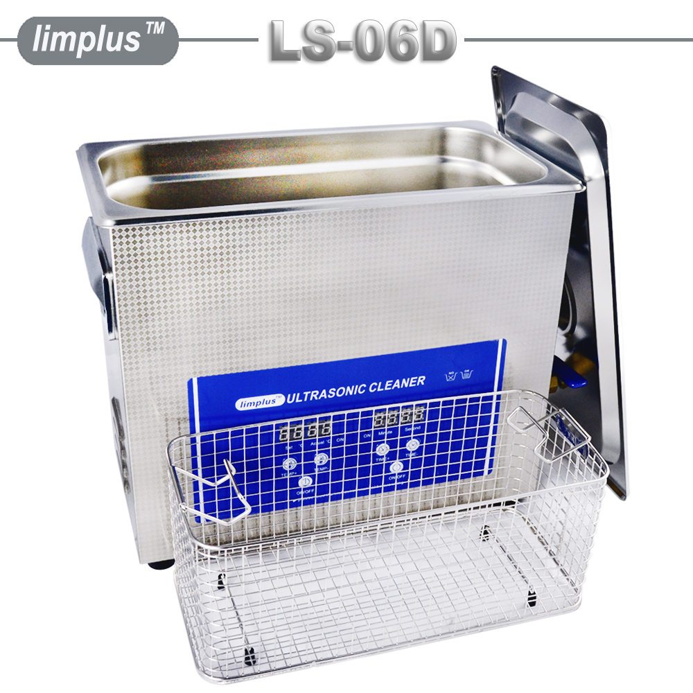 Limplus Professional Ultrasonic Cleaner 6.5L Digital Display Stainless Tank Ultrasound Bath PCB Hardware Lad Surgical Equipment