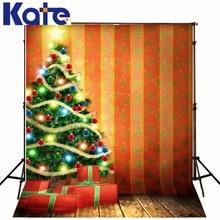 christmas vinyl backdrops for photography Christmas tree gift 5x7ft(1.5×2.2m) background ZJ
