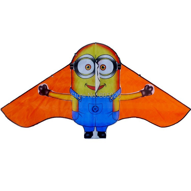 Free shipping new design lovely Minions kite 3pcs/lot child kite flying toy nylon ripstop with handle and line high quality