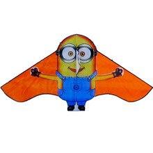 Дизайн, милый воздушный змей с миньонами, 3 шт./лот, детский воздушный змей, летающая игрушка, нейлон, Рипстоп, с ручкой и линией, высокое качество