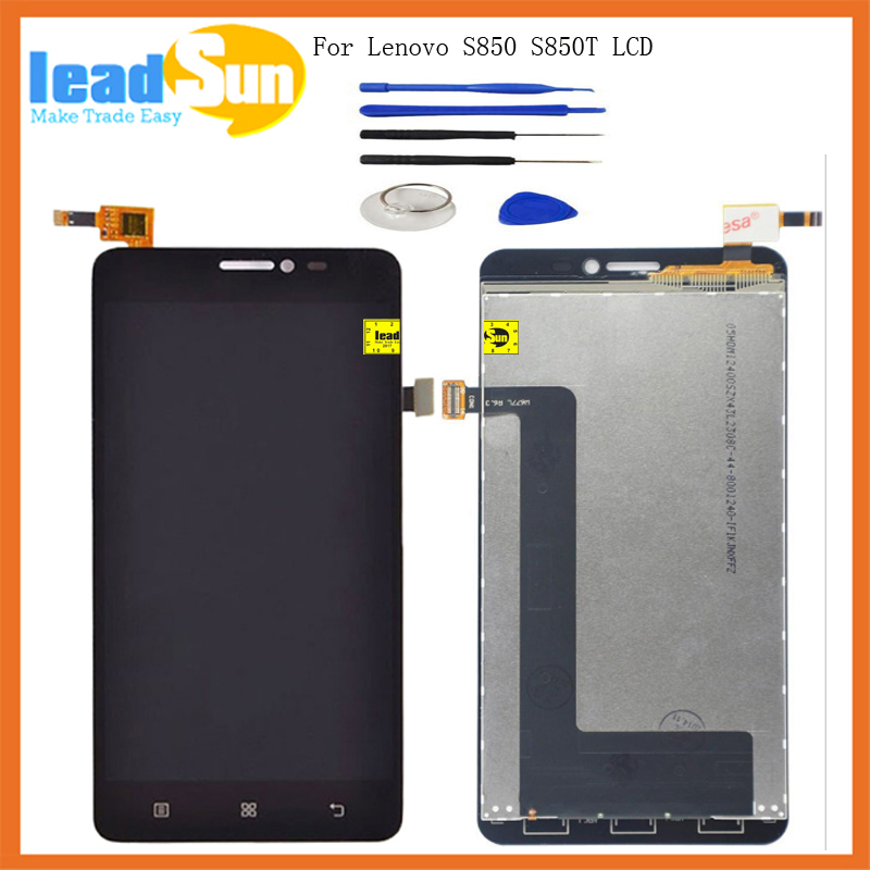5.0High Quality replacement For Lenovo S850 S850T LCD display with touch screen digitizer Assembly with tools free shipping high quality 5 3 for lenovo s898 s898t lcd display touch screen digitizer assembly replacement tools free shipping