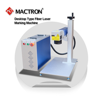 Portable Desktop 20w Fiber Laser Marking Machine For Metal Gold Silver Copper Zinc Plastic PE PP