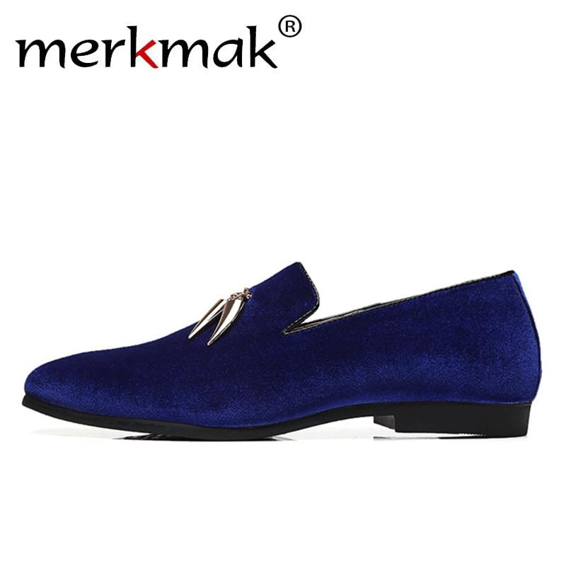 Merkmak Men Loafers Shoes Business-Dress Italian-Design Big-Size Casual Brand Handmade