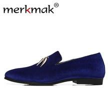 Merkmak Brand Men Loafers Handmade Italian Design Business Dress Shoes Casual Flat Big Size 37-48 Charming Men Paillette Loafers