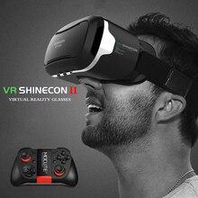 Горячая Продажа! Google Картон Pro Версия VR Shinecon gafas Виртуальная Реальность 3D Очки Для 4.7-6 дюймов Смартфон + Bluetooth Gampad