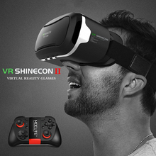 Hot Sale! Google Cardboard Pro Version VR Shinecon gafas Virtual Reality 3D Glasses For 4.7-6 inch Smartphone + Bluetooth Gampad