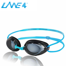LANE4 Optical Swimming Goggles Hydrodynamic Profile Frame Silicone Seals Anti-fog UV Protection water sports for Adults#2195
