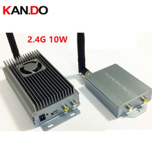 10W w special cooling fan 4ch 2 4G Wireless transceiver 2 4G vidoe audio Transmitter Receiver