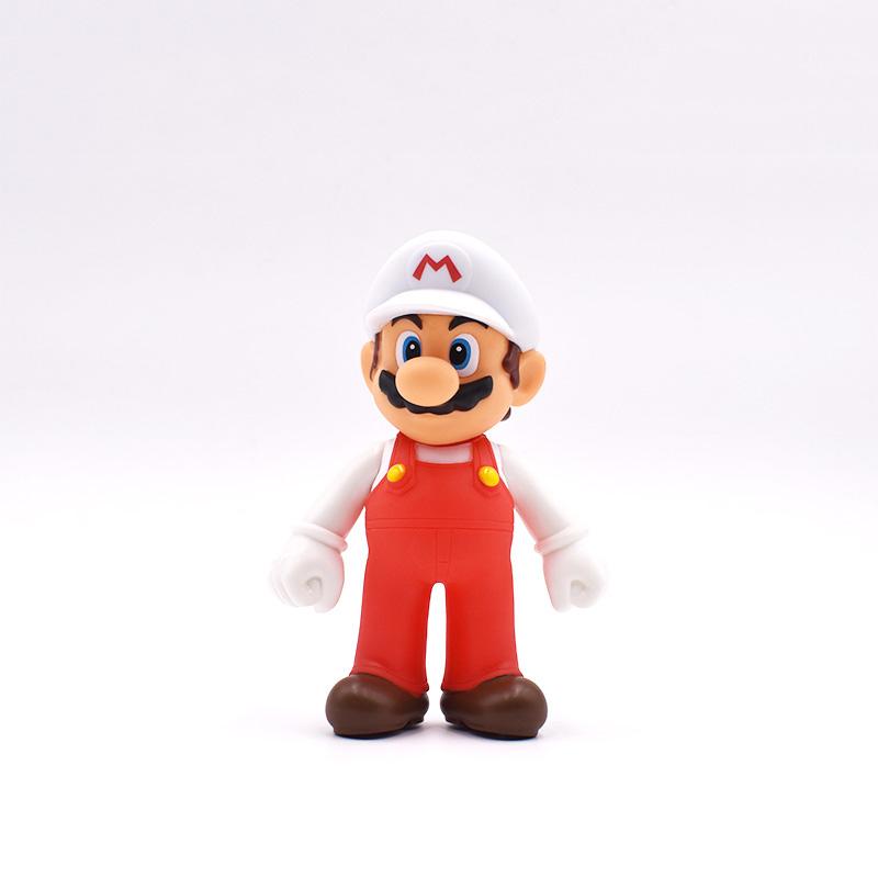 12 cm Super Mario Bros Cappello Bianco Mario PVC Action Figure Giocattoli  Bambole Modello di Raccolta Per I Bambini I Regali Di Natale c5fdc55709da