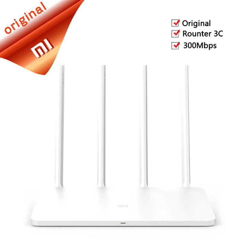 Chinese version Original Xiaomi Mi WIFI Router 3C 64 RAM 802.11N 2.4G 300Mbps Smart APP Control Band Wireless Routers Repetidor