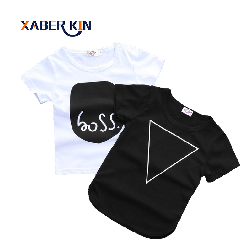 Xaber Kin 2017 Summer Style Baby T-Shirts 100% Cotton For Newborn Baby Clothes