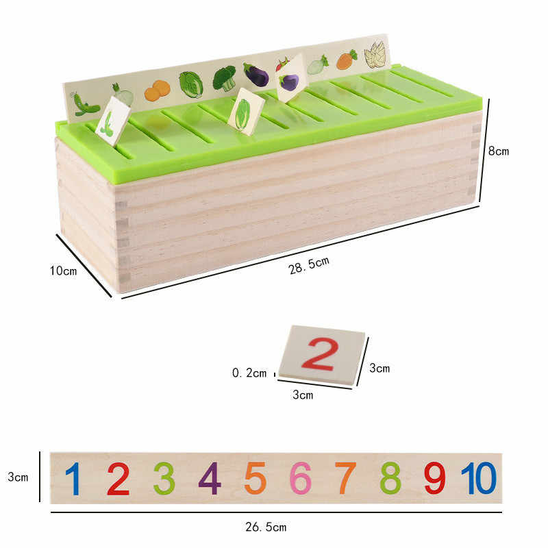 מתמטי ידע סיווג קוגניטיבית ילדי התאמת מונטסורי מוקדם חינוכיים ללמוד צעצוע עץ תיבת מתנות לילדים