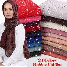Женский шарф, мусульманские шали, хиджаб, тюрбан, исламский арабский Дубай, платок, мягкий шифон, элегантный платок, женские шарфы
