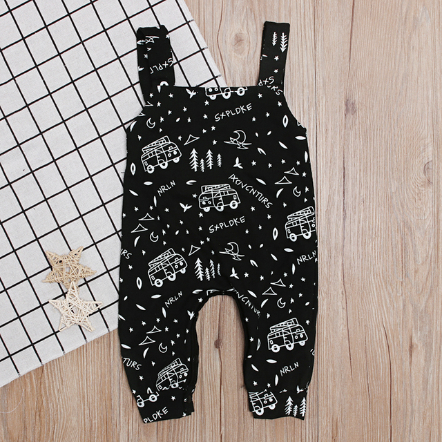 Baby Boy's Cotton Sleeveless Black Romper