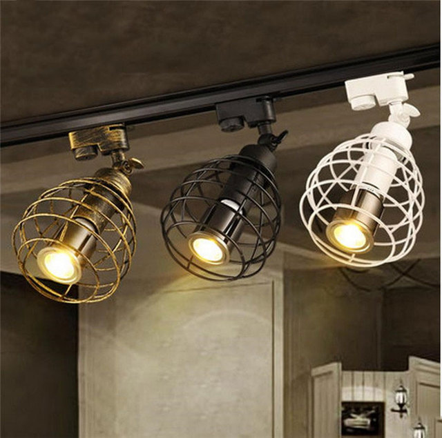 Kitchen Ceiling Track Lights: Aliexpress.com : Buy Black Rustic LED Track Light COB 10W