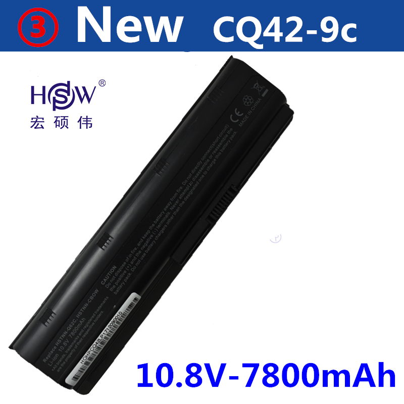 HSW new 7800MAH laptop battery for hp pavilion g6 battery DV3 DM4 G32 G4 G42 G62 G7 G72 for Compaq CQ32 CQ42 CQ43 CQ56 CQ62 CQ72 hsw 10400mah battery for hp pavilion dm4 dv3 dv5 dv6 dv7 g4 g6 g7 g72 g62 g42 for presario cq32 cq42 cq43 cq56 cq62 cq72 mu06