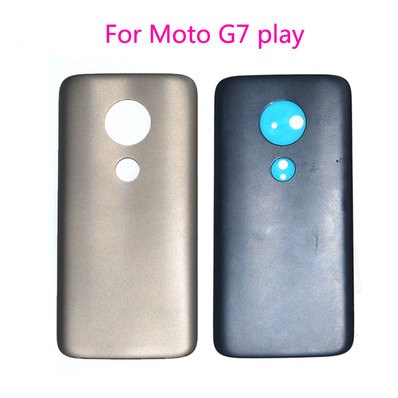 Wholesale 5.7inch For Motorola Moto G7 play <font><b>XT1952</b></font>-2 Back Battery Cover Housing Replacement <font><b>parts</b></font> image