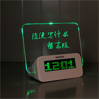 Creative Fashion Message Board Clock Screen Romantic Fluorescent LED Electronic Clock Bedside Clock Student Gift