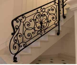 Decorative Railing Outdoor Metal Stair Railing Cast Iron Railings   Cast Iron Staircase Railing   Modern   Grill   Rod Iron   Floor   Interior