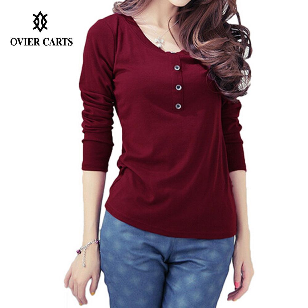 Purple shirts women reviews online shopping purple for Burgundy long sleeve t shirt womens