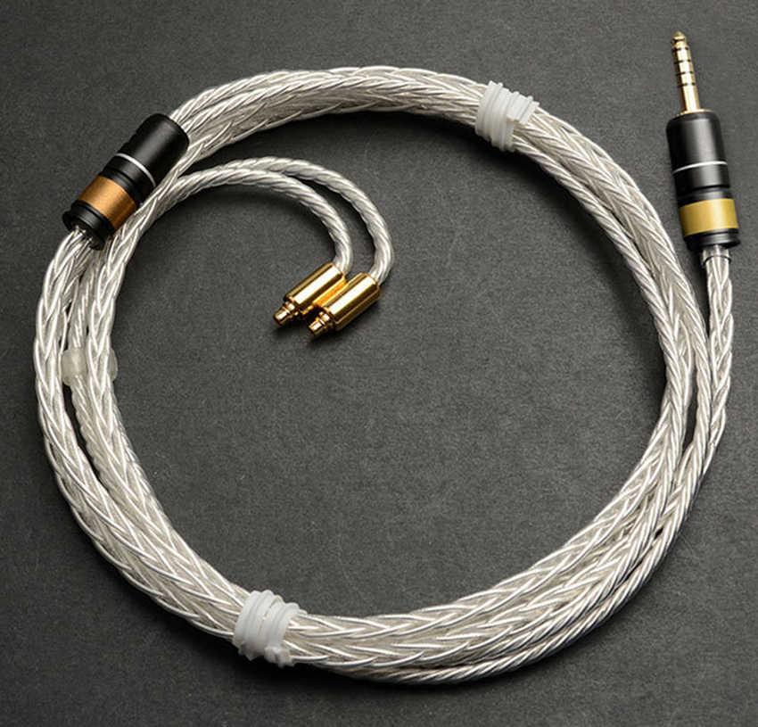 Сделай Сам ручной работы медь серебро 4,4 м сбалансированный штекер 8 ядер Hifi обновленный кабель для atell & Kerns ondio OPUS DAP sony NW-WM1Z