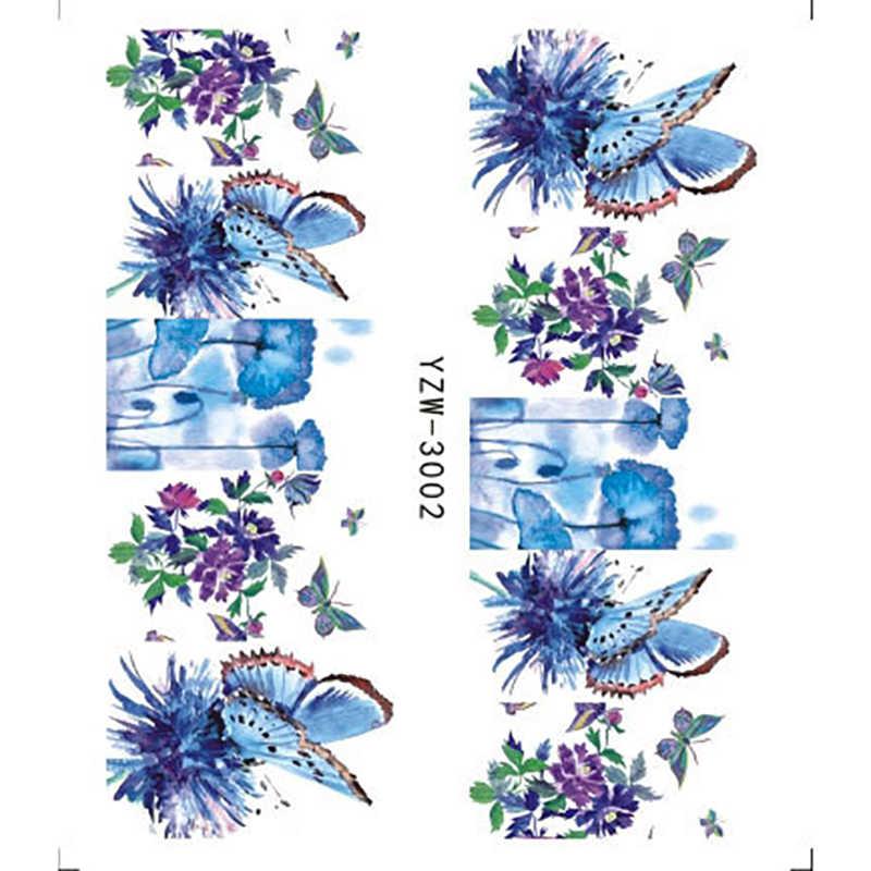 Do paznokci naklejki 1 sztuk motyl kwiat woda transferu naklejka suwaki do zdobienia paznokci tatuaż Manicure okłady narzędzia końcówki