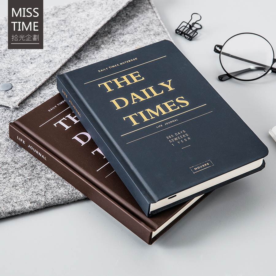 купить 32K Hard Copybook Daily Times Simple Notebook Retro Delicate Hard Cover Dairy Book Life Journal Creative Gift Travelers Notebook по цене 924.77 рублей