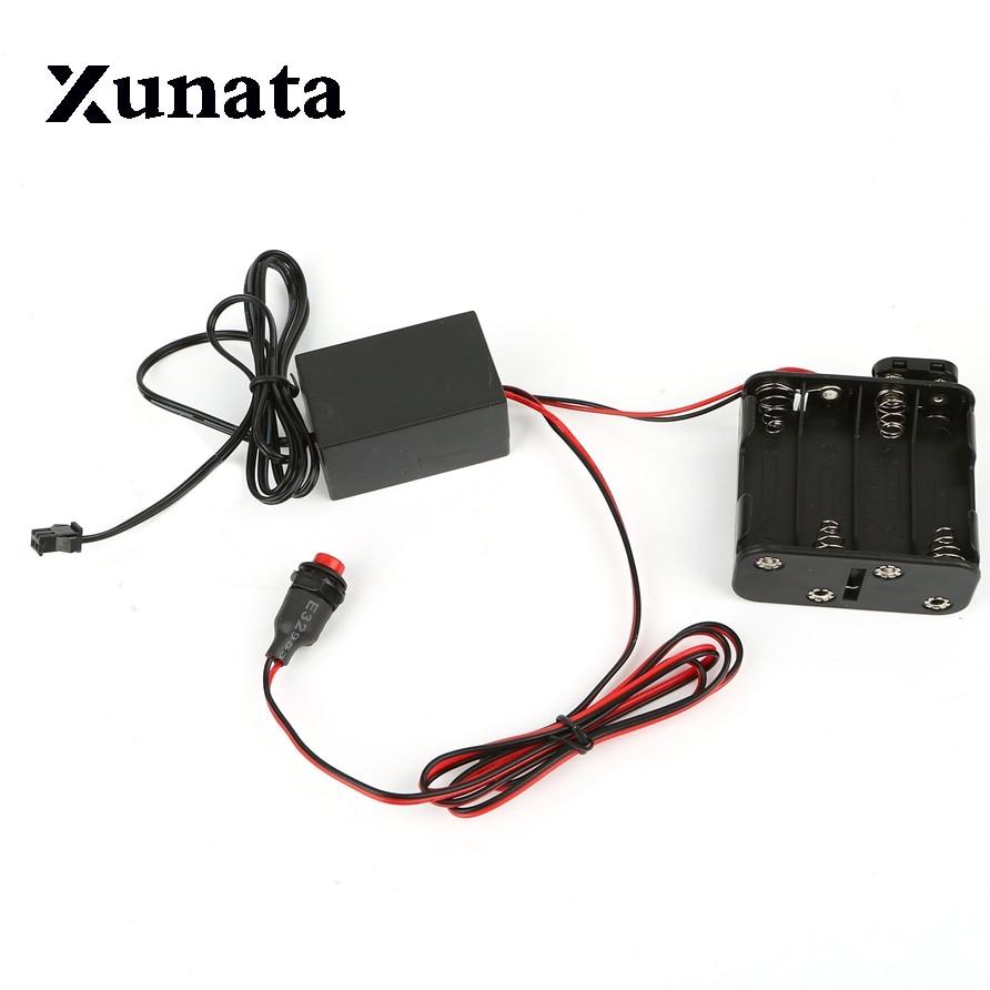 8-AA 12 v Batterie Onduleur boîte Driver 8X1.5 v pour 1 m 3 m 5 m 10 m 15 m 20 m au néon menée flexible CHASSE Lueur EL Fil ruban