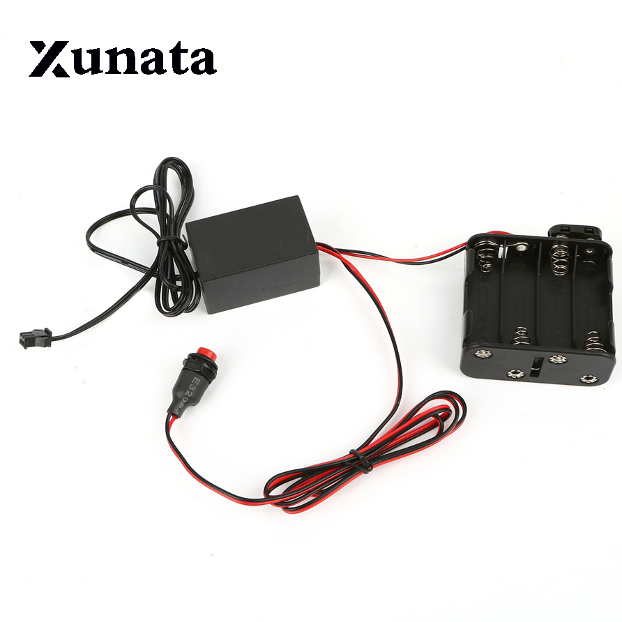 8 - AA 12V Battery case Inverter box Driver 8 X 1.5V for 1m 3m 5m 10m 15m 20m flexible led neon CHASING Glow EL Wire tape 12v inverter for 20 30 meter long el wires