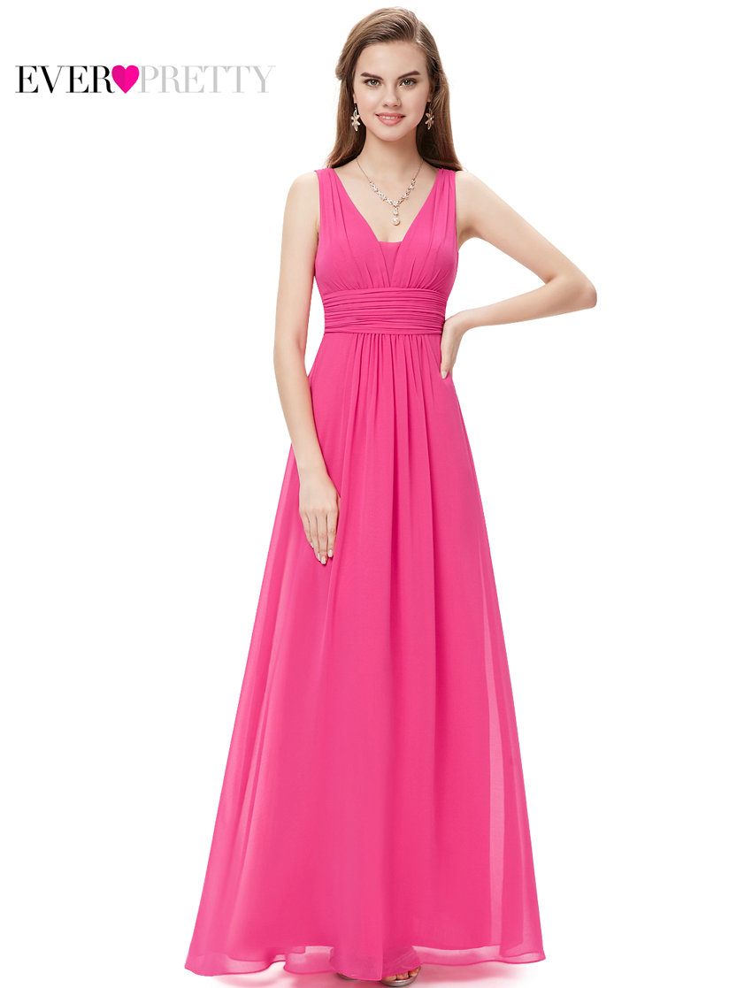 e8dfbfb4718 Bridesmaid Dresses Ever Pretty HE08110 Sexy Lady Double V Neck New Arrival  Chiffon Bridesmaid Dress 2018 Wedding Guest Gifts