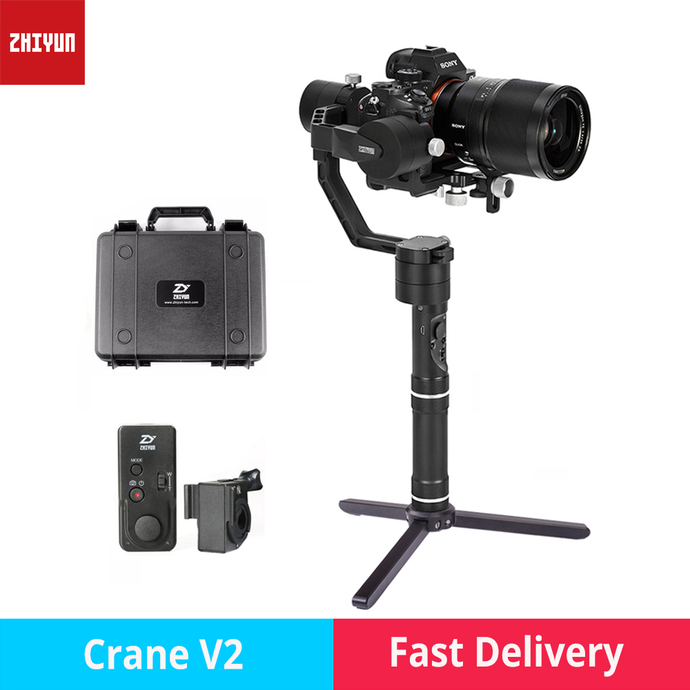 zhi yun Zhiyun Crane V2 3-Axis Brushless Handheld Gimbal Stabilizer camera gimbal for Canon Nikon Sony DSLR mirrorless cameras стоимость