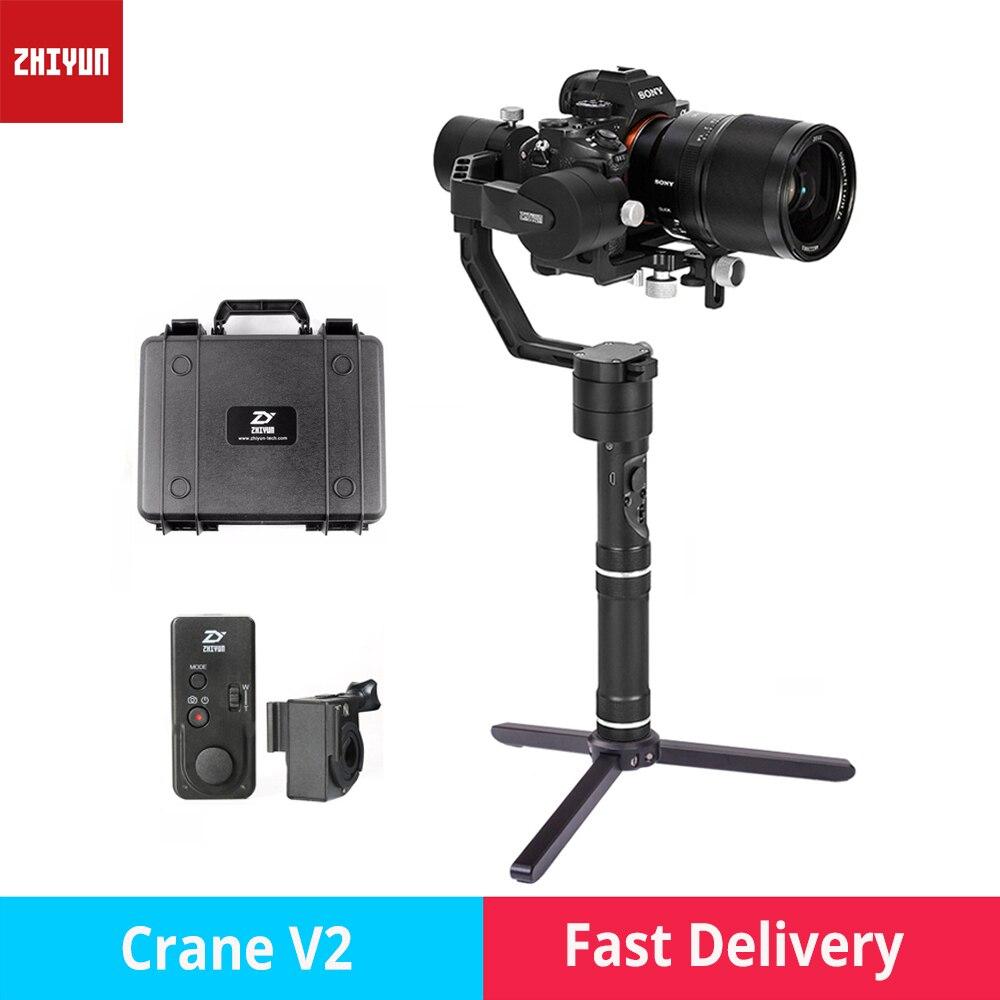 zhi yun Zhiyun Crane V2 3 Axis Brushless Handheld Gimbal Stabilizer camera gimbal for Canon Nikon Sony DSLR mirrorless cameras