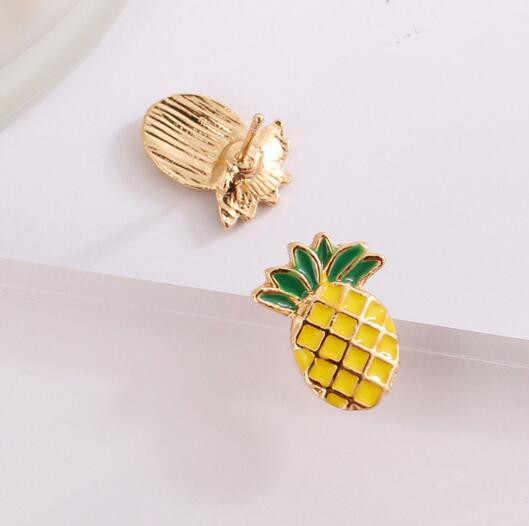 Ey285 2018 gran oferta nueva moda fruta piña Stud pendientes verano estilo Playa Linda arena pendientes mujer encanto joyería