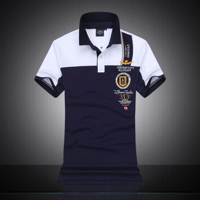 2018 fashion   polo   men air force one new   polo   shirt men high quality business casual pure cotton men   polo   shirt large size M-XXL.