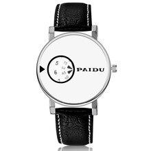 Watch Men Luxury PAIDU Brand Watches Men Leather Straps Watch Man Black White Sports Watch Clock relogio masculino montre saat