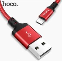 HOCO USB A zu Micro USB 2A Schnell Lade Kabel für Xiaomi Redmi Samsung Huawei LG USB Schnelle Ladegerät Kabel geflochtene Data sync Draht