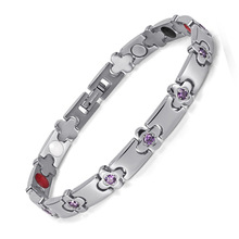 Hot Sale Womens Health Bracelets & Bangles Jewelry Therapy Energy Bracelet with Crystal Hand Chain OTB-1291