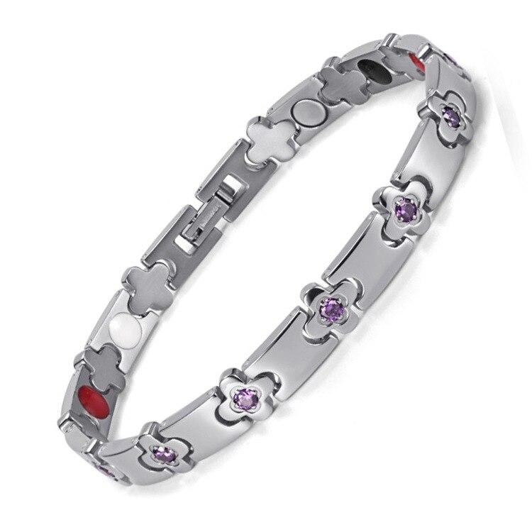 Offre spéciale femmes Bracelets de santé et Bracelets bijoux thérapie Bracelet énergétique avec cristal main chaîne OTB-1291
