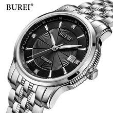 2017 männer burei marke luxus automatische uhr männer mode lässig wasserdichte 50 mt datum clcok geschäfts armbanduhren reloj hombre