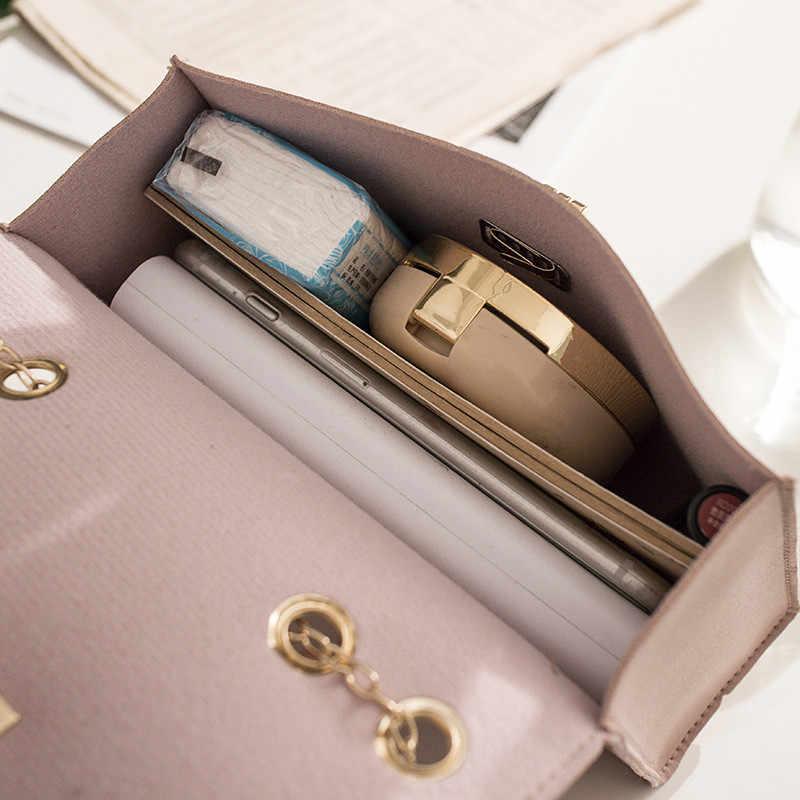 Beibaobao brytyjska moda prosta mała kwadratowa damska designerska torebka 2019 wysokiej jakości PU skórzany łańcuszek torba na telefon komórkowy