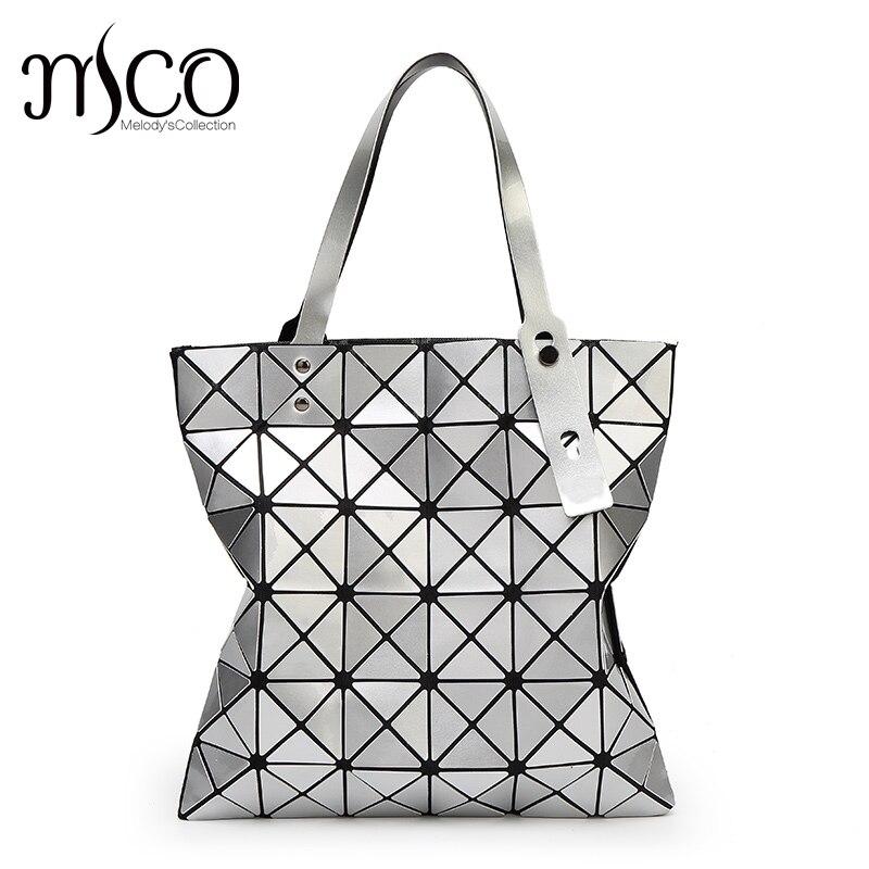 15 colors Japan Style font b Women b font Geometry Bao Tote Handbag Laser Diamond Lattice