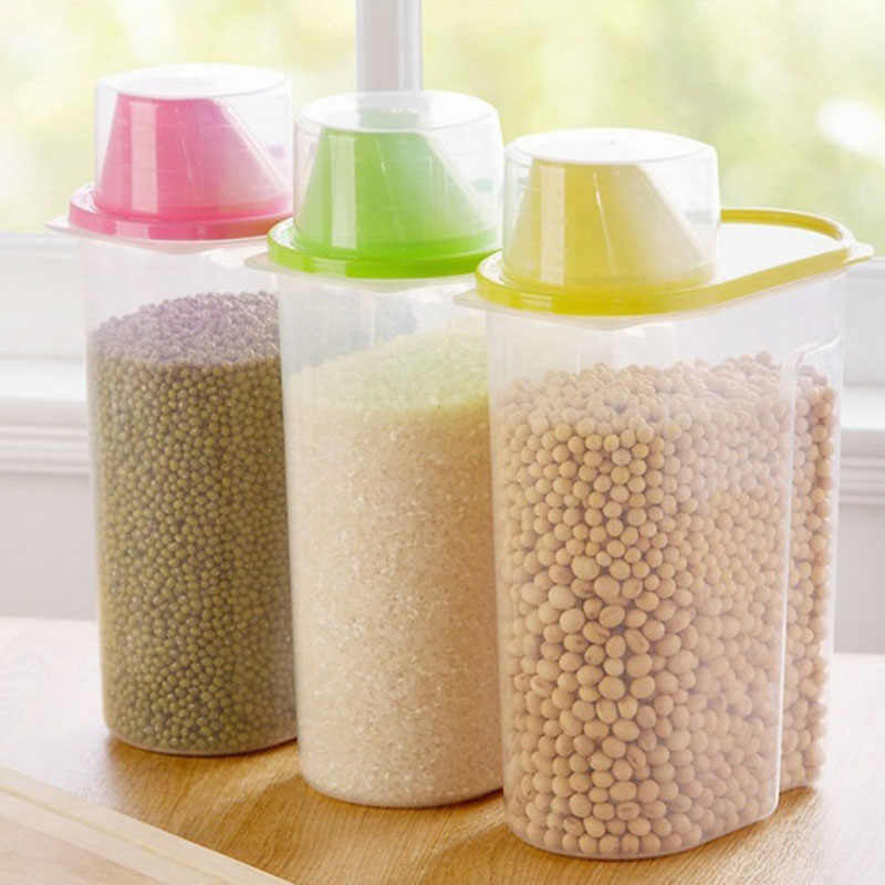 2.5L Container of Cereal Plastic Storage Of Cereals Dry Cereal Containesrs  Food Storage Box Clear Food Box Kitchen Container